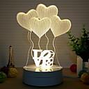 billige 3D Nattlamper-1pc 3D nattlys Varm hvit Kreativ <=36 V