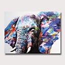 Χαμηλού Κόστους Πίνακες με Ζώα-Hang-ζωγραφισμένα ελαιογραφία Ζωγραφισμένα στο χέρι - Αφηρημένο Ζώα Μοντέρνα Χωρίς Εσωτερικό Πλαίσιο