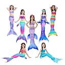 Χαμηλού Κόστους Κοστούμια με Θέμα Ταινίες & Τηλεόραση-The Little Mermaid Ουρά γοργόνας Μαγιό Στολές Ηρώων Ταινιών Γοργόνα Λευκό / Βυσσινί / Πορτοκαλί Γοργόνα Γοργόνα