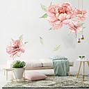 Χαμηλού Κόστους Βρύσες Μπιντέ-μεγάλα ροζ λουλούδια αυτοκόλλητα τοίχου - λέξεις&ampamp quotes αυτοκόλλητα τοίχου χαρακτήρες μελέτη αίθουσα / γραφείο / τραπεζαρία / κουζίνα
