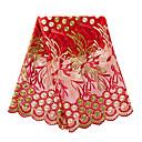 ราคาถูก African Lace-ลูกไม้แอฟริกัน ลวดลายดอกไม้ Pattern 130 cm ความกว้าง ผ้า สำหรับ โอกาสพิเศษ ขาย โดย 5Yard