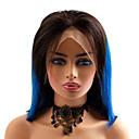 זול פיאות תחרה משיער אנושי-שיער אנושי חזית תחרה פאה תספורת בוב בסגנון שיער ברזיאלי ישר כחול פאה 130% צפיפות שיער נשים איכות מעולה חדש הגעה חדשה מכירה חמה בגדי ריקוד נשים קצר Wig Accessories פיאות תחרה משיער אנושי Laflare