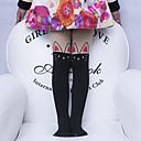 billige Undertøy og sokker til jenter-5 sett Barn Jente Søt Ensfarget Sexy Polyester Sokker & Strømper Hvit / Svart / Rosa M / L