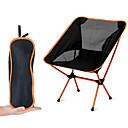 baratos Pedais-Cadeira Dobrável para Acampamento Multifuncional Portátil Respirável Ultra Leve (UL) Liga de Alúminio 7005 Malha Oxford para 1 Pessoa Pesca Praia Campismo Viagem Outono Primavera Azul Escuro Azul