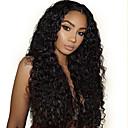 זול פיאות תחרה משיער אנושי-שיער אנושי חזית תחרה פאה חלק אמצעי בסגנון שיער ברזיאלי מתולתל שחור פאה 130% צפיפות שיער נשים בגדי ריקוד נשים ארוך אחרים Clytie
