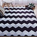 baratos Tapetes-Os tapetes da área Forma Geométrica Poliéster, Rectângular Qualidade superior Tapete