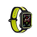 billige Dusjforheng-silikonbånd for Apple Watch-bånd 44mm / 40mm / 42mm / 38mm Correa Sports armbåndsurbånd for Iwatch-stropp 4/3/2/1 Gummi Wrisbelt