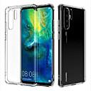 billige Etuier/deksler til Huawei-Etui Til Huawei Huawei P30 Pro Gjennomsiktig Bakdeksel Gjennomsiktig Myk TPU