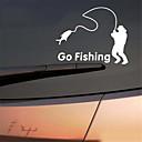 Χαμηλού Κόστους Αντρικά Βραχιόλια-δημοφιλή βόλτα αλιείας βινυλίου αυτοκίνητο παράθυρο αυτοκόλλητο αυτοκόλλητο decal decal