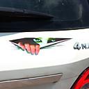זול ממיר כוח-שחור / ירוק מדבקות לרכב הוּמוֹר סטיקרים / מדבקות / רכב זנב מדבקות לא מפורט 3D מדבקות