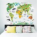baratos Adesivos de Parede-Autocolantes de Parede Decorativos - Etiquetas de parede de mapa Mapas Interior / Quarto das Crianças