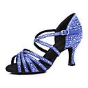 זול נעליים לטיניות-בגדי ריקוד נשים נעלי ריקוד דמוי עור נעליים לטיניות עקבים עקב רחב מותאם אישית כחול / עירום / הצגה / אימון