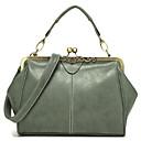 ราคาถูก กระเป๋า Totes-สำหรับผู้หญิง PU กระเป๋าถือยอดนิยม สีทึบ สีบานเย็น / สีน้ำเงินกรมท่า / ใบไม้สีเขียวที่มีสามแฉก / ฤดูใบไม้ร่วง & ฤดูหนาว