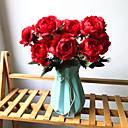billiga Artificiell Blomma-Konstgjorda blommor 1 Gren Klassisk Europeisk Brudbuketter Pioner Eviga Blommor Bordsblomma