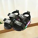 זול LED Shoes-בנים נעליים זוהרות סינטטיים סנדלים ילדים / פעוטות שחור / אפור / אדום קיץ / גומי