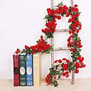 baratos Flores Artificiais & Vasos-Flores artificiais 1 Ramo Clássico De Parede Tradicional Casamento Rosas Flores eternas Guirlandas & Flor de Parede