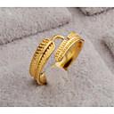 זול שרשראות-בגדי ריקוד נשים פתח את הטבעת 1pc זהב זהב 18K מילא Geometric Shape מסוגנן מתנה יומי תכשיטים קלאסי נוצה חמוד
