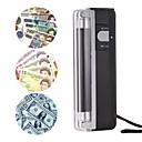 זול חוט נורות לד-2-in-1 מיני נייד כסף גלאי מזויף מזומנים שטר כסף שטר בודק בודק עם פנס אור uv
