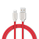 billige LED-stringlys-1,5m (5ft) lyn til usb kabel rask ladning sinklegering usb kabel for iphone ipad