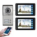 billige LED-stringlys-618mc12 7 tommers kapasitiv berøringsskjerm videokamera kablet video dørklokke wifi / 3g / 4g ekstern oppringing opplåsing visuell intercom to-roms