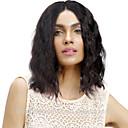 זול פיאות תחרה משיער אנושי-שיער אנושי חזית תחרה פאה חלק חינם בסגנון שיער ברזיאלי גלי שחור פאה 130% צפיפות שיער נשים בגדי ריקוד נשים ארוך אחרים Clytie