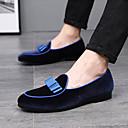 ราคาถูก รองเท้าแตะ & Loafersสำหรับผู้ชาย-สำหรับผู้ชาย รองเท้าหนังนิ่ม หนังนิ่ม ฤดูร้อนฤดูใบไม้ผลิ / ฤดูใบไม้ร่วง & ฤดูหนาว ไม่เป็นทางการ / อังกฤษ รองเท้าส้นเตี้ยทำมาจากหนังและรองเท้าสวมแบบไม่มีเชือก สีดำ / แดง / ฟ้า / พู่ / พรรคและเย็น