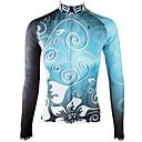 povoljno Biciklističke majice-ILPALADINO Žene Dugih rukava Biciklistička majica Sky blue Cvjetni / Botanički Bicikl Biciklistička majica Majice Ugrijati Podstava od flisa Ultraviolet Resistant Sportski Zima Elastan Runo Brdski