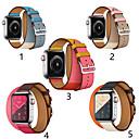 billige Smart armbånd-smartwatch band for Apple Watch serien 4/3/2/1 klassisk spenne iwatch stropp dobbel sirkel