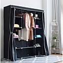 ราคาถูก อุปกรณ์จัดเก็บ-ตู้เสื้อผ้าตู้เสื้อผ้าตู้เสื้อผ้าตู้เก็บเสื้อผ้าขนาด 60 นิ้วสีดำ