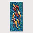 זול ציורים מופשטים-ציור שמן צבוע-Hang מצויר ביד - חיות אומנות פופ מודרני כלול מסגרת פנימית