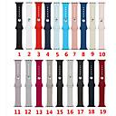 billige Dusjforheng-silikon watch band for Apple Watch 38mm 42mm sport armbånd belte stropp for iwatch serien 4 3 2 1 40mm 44mm armbånd