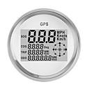 billige LED-stringlys-90mm gps vanntett speedometer kilometerteller gauge digital hvit for bil tru ck motorsykkel