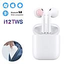 billige TWS Sann trådløse hodetelefoner-mini i12 tws ekte trådløse øreplugger bluetooth 5.0 øretelefoner berøringskontroll hodetelefoner 3d surroundlyd