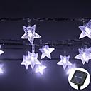 זול מצלמות פנים רשת IP-lende 8m 60leds כוכב בצורת נושא הוביל מחרוזת פיות אורות waterproof מופעל השמש חג המולד חג החתונה קישוט צד התאורה