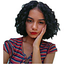 זול פיאות תחרה משיער אנושי-שיער אנושי חזית תחרה פאה חלק צד בסגנון שיער ויאטנמי מתולתל שחור פאה 130% צפיפות שיער נשים בגדי ריקוד נשים ארוך אחרים Clytie