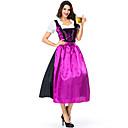 Χαμηλού Κόστους Ελαιογραφίες-Oktoberfest Dirndl Trachtenkleider Γυναικεία Φόρεμα Ποδιά βαυάρος Στολές Μαύρο / Σατέν