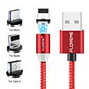 billiga Takfasta och semitakfasta taklampor-Belysning Kabel 2,0m (6.5Ft) Flätad / Magnet / 1 till 3 Aluminum / TPE / Självlysande USB-kabeladapter Till iPad / Samsung / Huawei