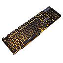 Χαμηλού Κόστους Αθλητικά ακουστικά-LITBest GX USB Ενσύρματο πληκτρολόγιο Gaming Ηλεκτρονικό Παιχνίδι Αδιάβροχη μονόχρωμος φωτισμός 104 pcs Κλειδιά