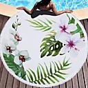 billige Strandhåndkle-Overlegen kvalitet Strandhåndkle, Blomster / botanikk 100% Mikro Fiber 1 pcs