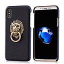 Χαμηλού Κόστους Σκουλαρίκια χαραγμένα-Θήκη για κινητά τηλέφωνα πηκτής σιλικόνης με μεταλλικό λιοντάρι θήκη για τηλεφωνική βάση για iphone7 / 7plus / 6 / 6s / 6 plus / 6s plus / 7 / 7s / 8 / 8plus / x / xs