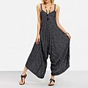 Χαμηλού Κόστους Ρούχα τρεξίματος-Γυναικεία Βασικό / Μπόχο Τιράντες Μαύρο Πλατύ Πόδι Λεπτό Φόρμες Ολόσωμη φόρμα, Ριγέ Τ M L