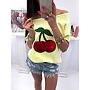 Χαμηλού Κόστους Παιδικά Αξεσουάρ Κεφαλής-Γυναικεία Μεγάλα Μεγέθη T-shirt Φρούτα Λεπτό Πούλιες / Ώμοι Έξω Λευκό / Άνοιξη / Καλοκαίρι / Φθινόπωρο