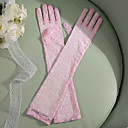 Χαμηλού Κόστους Γάντια για πάρτι-Δαντέλα Μέχρι τον αγκώνα Γάντι Πάρτι / Απόγευμα / Κομψό Με Κέντημα / Μονόχρωμο