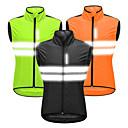 Χαμηλού Κόστους Τζάκετ Ποδηλασίας-WOSAWE Ανδρικά Αμάνικο Γιλέκο ποδηλασίας Μαύρο Πορτοκαλί Πράσινο του τριφυλλιού Ποδήλατο Γιλέκο Αντιανεμικά Αθλητική μπλούζα Ποδηλασία Βουνού Ποδηλασία Δρόμου / Ελαστικό / Αντιανεμικό / Προηγμένο