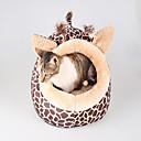 ราคาถูก ที่นอนและผ้าห่มสำหรับสุนัข-สุนัข แมว สัตวืเลี้ยงมีขนตัวเล็กๆ เบาะที่นอน ที่นอน ผ้าห่มเตียง ผ้า สัตว์เลี้ยง ผ้าซับใน ลายเสือ ทนทาน ลำลอง เสือดาว