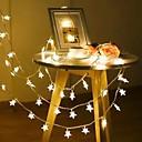 זול תאורה קדמית לרכב-2m 40 לדים בצורת כוכב נושא מחרוזת פיות האורות חם לבן חג המולד חג החתונה קישוט צד 3 תאורה 1pc