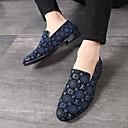 ราคาถูก รองเท้าแตะ & Loafersสำหรับผู้ชาย-สำหรับผู้ชาย รองเท้าหนังนิ่ม หนังนิ่ม ฤดูร้อนฤดูใบไม้ผลิ / ฤดูใบไม้ร่วง & ฤดูหนาว ธุรกิจ / ไม่เป็นทางการ รองเท้าส้นเตี้ยทำมาจากหนังและรองเท้าสวมแบบไม่มีเชือก วสำหรับเดิน ระบายอากาศ สีดำ / แดง / ฟ้า