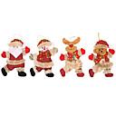 povoljno Božićni ukrasi-Odmor dekoracije Božićni ukrasi Božićni ukrasi Ukrasno Crvena 4kom