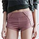 זול בגדי ריצה-בגדי ריקוד נשים מכנסי יוגה אופנתי כותנה מכנסיים קצרים לבוש אקטיבי נושם באט הרם מיקרו-אלסטי