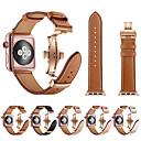 billige Hårpleie og styling-smartwatch band for Apple Watch serien 4/3/2/1 Apple Butterfly Spenne / Leather Loop ekte lær / rustfritt stål armbånd